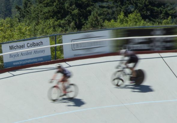 Portland bicycle accident attorney Mike Colbach proud continued contributing sponsor Alpenrose Velodrome