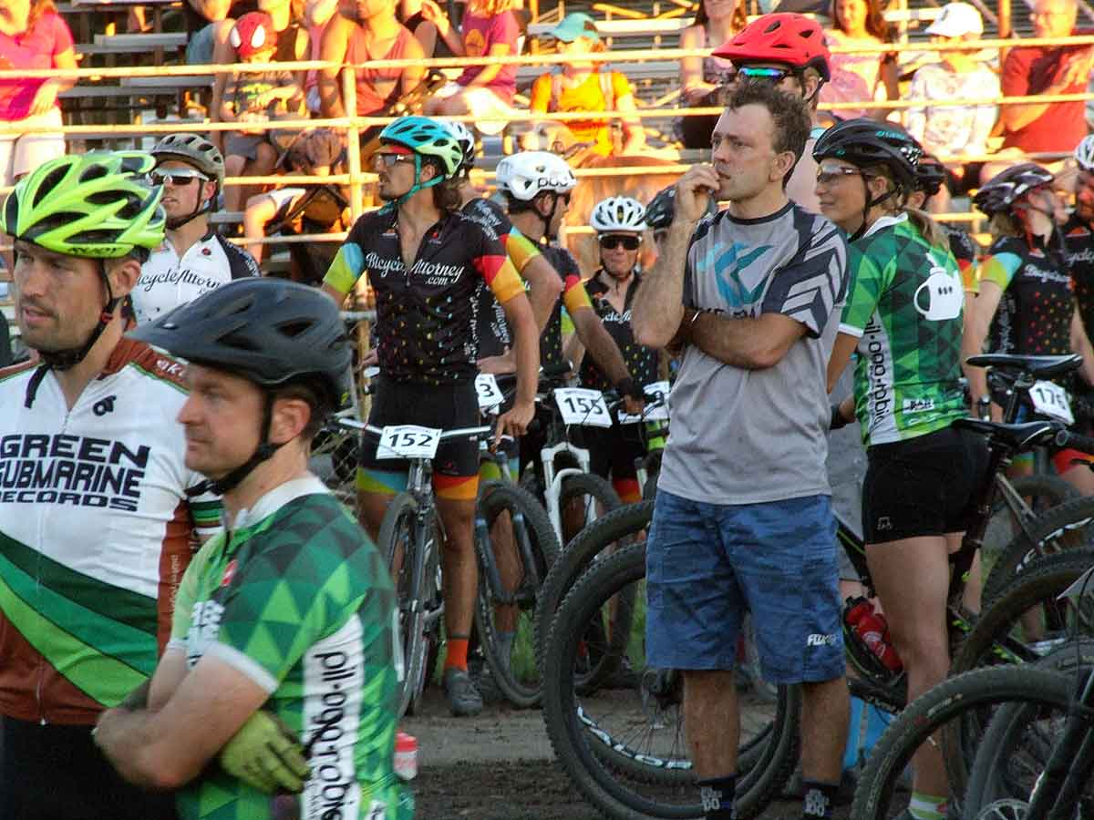 Portland Ultra Short Track Team Relay bicycle race with 28 teams competing in the fierce battle for the ultimate team championship July 31, 22017.